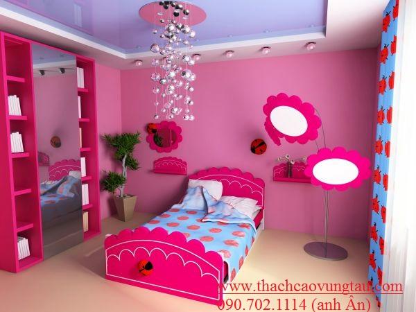 Mẫu phòng ngủ dành cho những bé mê búp bê Babie